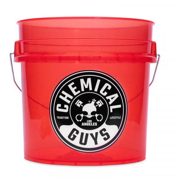 Heavy Duty Detailing Bucket Transparent Red
